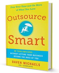 "Get Daven's Book ""Outsource SMART"" on the Double Your Check Call!"